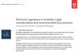 Electronic signatures in Australia : Legal considerations and recommended best practices